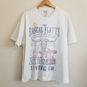 The Rascal Flatts 2009 Unstoppable Tour T Shirt